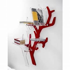 Etagere Murale Rouge : tag re murale rouge de design moderne carol faite en italie biblioth ques et tag res ~ Teatrodelosmanantiales.com Idées de Décoration