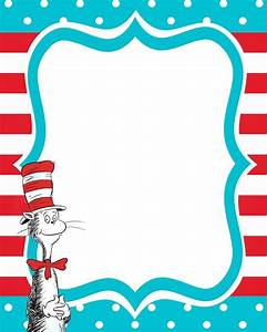 Dr Seuss Borders Template | Search Results | Calendar 2015