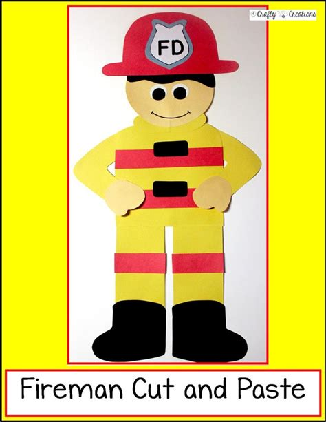 firefighter preschool firefighter cut and paste cut and paste safety and 706