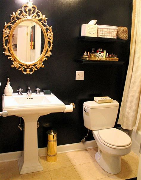 gold bathroom ideas navy blue walls with gold accents would be beautiful restroom decor