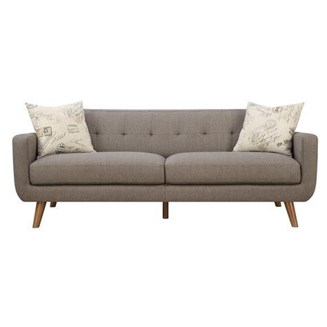 Latitude Run Mid Century Modern Sofa With Accent Pillows