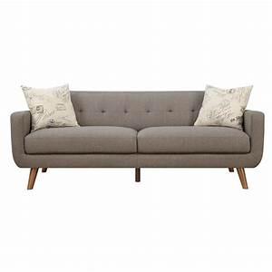 Modern Sofa Couch : latitude run mid century modern sofa with accent pillows reviews wayfair ~ Indierocktalk.com Haus und Dekorationen