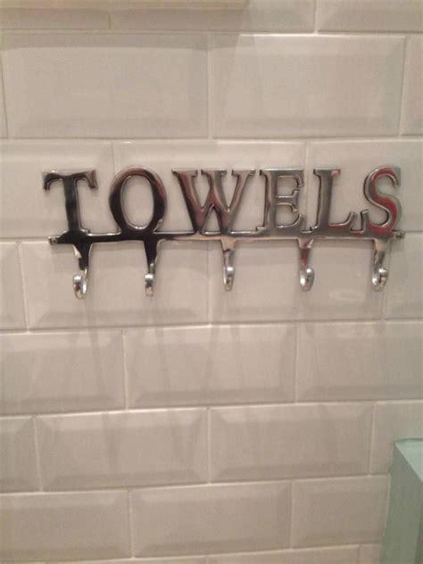 large towel holder rack bath hanger hooks wall mounted bathroom aluminium chrome