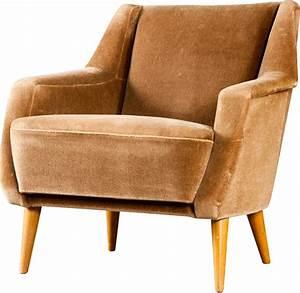 Fauteuil Design Scandinave : fauteuil scandinave en velours marron 1950 design market ~ Melissatoandfro.com Idées de Décoration