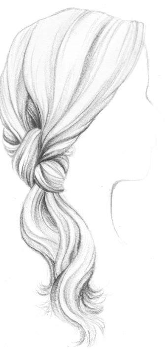 Dessin tresses chignon | Dessin | Pinterest | Chignon Queue de cheval et Queue