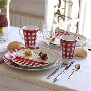 Assiette Ardoise Pas Cher : assiettes decoclico assiette en porcelaine par 4 vichy rouge ventes pas ~ Teatrodelosmanantiales.com Idées de Décoration