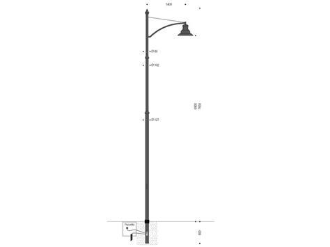 palo illuminazione palo per illuminazione a un braccio con lara