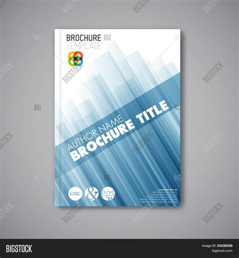 Modern Blue Brochure Design Vector Photo Bigstock Modern Vector Abstract Brochure Book Flyer Design