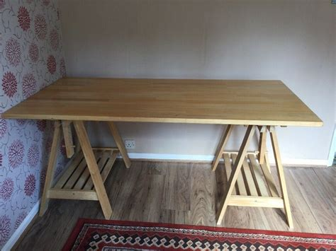 Oak is very sturdy and is also prepared to endure most common tumble. Ikea computer desk - can tilt for drawing, painting ...