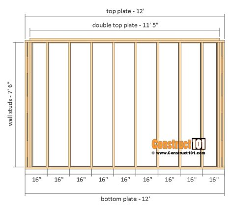 shed plans 10x12 gable shed by construct101