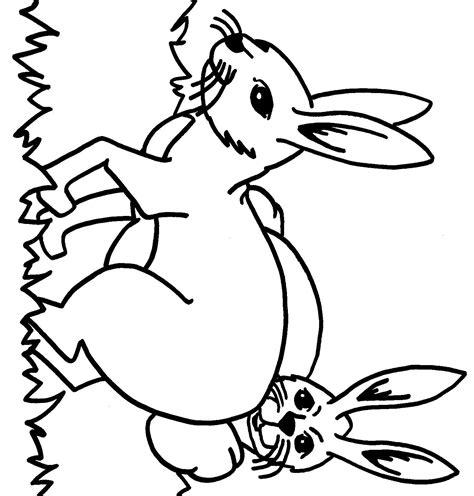dessin a imprimer gratuit coloriage pour enfant lapin domestique