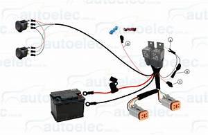Genuine Lightforce Dual Switch    Relay Wiring Harness Kit Suit Htx Dl230 Lfdlhds