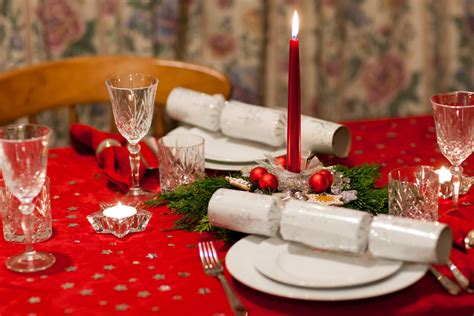 christmas dining table  stock photo public domain