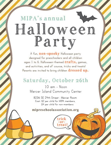 halloween party for preschoolers join us for mipa s mercer island 388