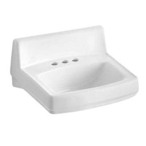 kohler wall hung sink kohler greenwich wall mounted bathroom sink in white k