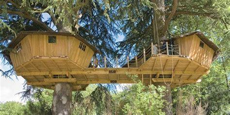 double octagon tree house  bridge house pinterest house art     house