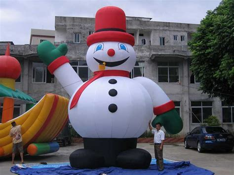 china snowmen inflatables china inflatables inflatables - Giant Inflatable Christmas
