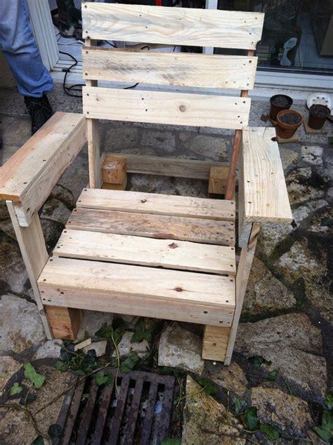 comment construire une chaise en palette