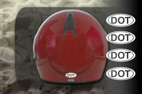 Helmet Dot Sticker Regulation Decal