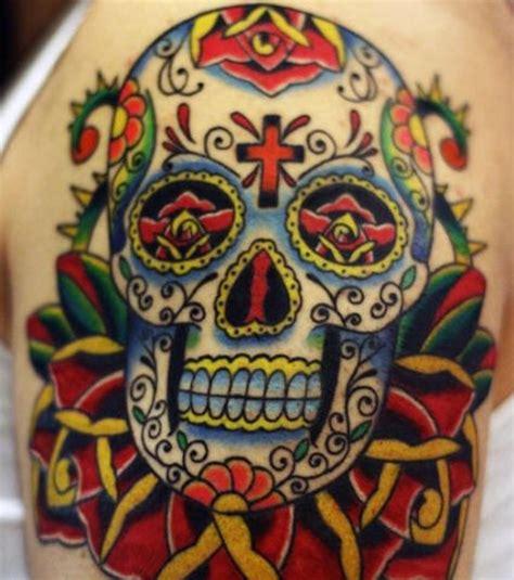 Tete De Mort Mexicaine Tatouage Photo Tatouage T 234 Te De Mort Mexicaine Sur La Cuisse