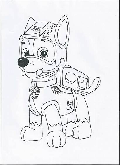 Paw Patrol Chase Drawing Coloring Pages Drawings