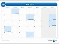 Kalender Mai 2018
