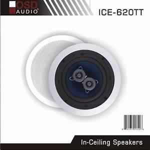 Ceiling Speaker Dual Voice Coil Osd Audio Ice620tt