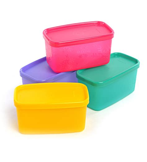 canisters sets for the kitchen tupperware cool square half set of 4 by tupperware