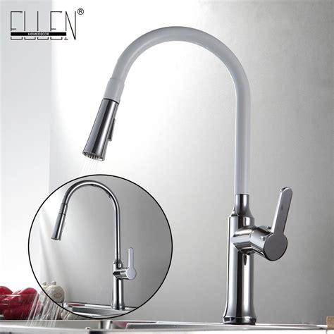 white kitchen sink faucet kitchen faucet pull out and cold kitchen mixer copper
