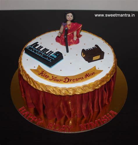 Indian Classical Music Theme Customized Designer Fondant