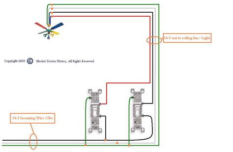 connect ceiling fan to wall switch wiring a ceiling fan with two switches