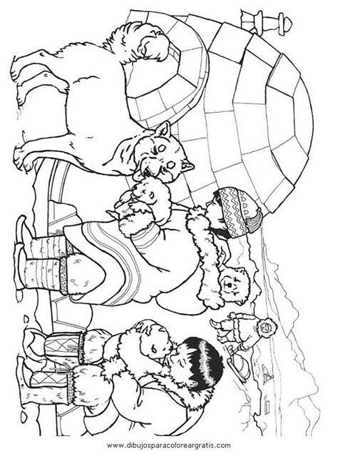 Kleurplaat Noordpool by Igloo Esquimal χειμωνιατικες ζωγραφιες Noordpool