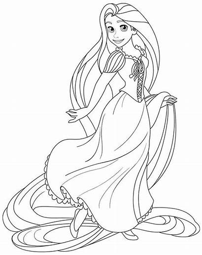 Coloring Pages Rapunzel Tangled Craft Ranpunzel Its