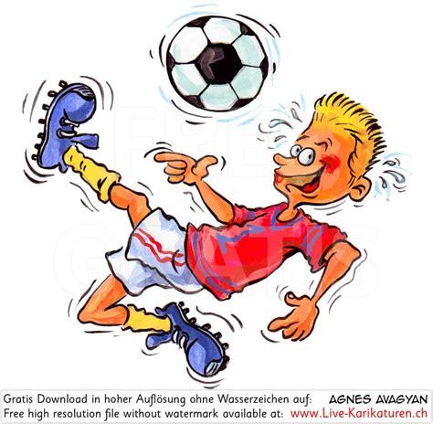 Spielendes Comic by Fussball Sport Kicker Junge Agnes Live Karikaturen