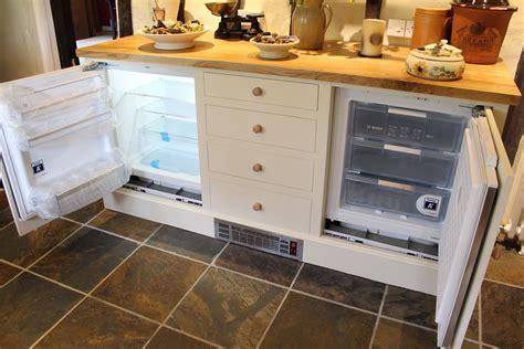 built   counter fridge  freezer  counter