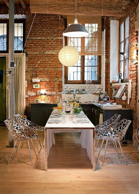 impressive dining rooms  brick walls ideas