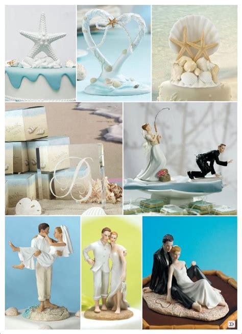 decoration mariage mer figurine gateau montee