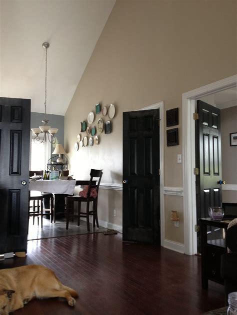 awesome black interior doors completing elegant room