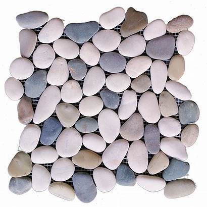Pebble Natural Tile Floor Forest Rain Stone
