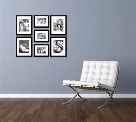 Photo Frames On Wall Craig Frames 7 Piece Black Gallery Wall Frame Set With