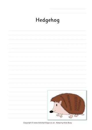 hedgehog printables