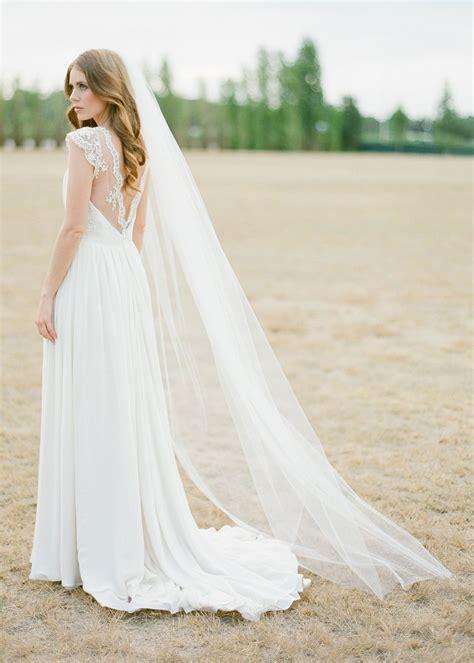 wynter classic chapel length wedding veil tania maras bespoke wedding headpieces wedding