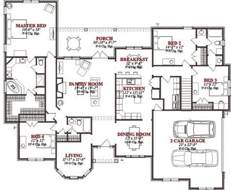4 bedroom floor plan 2767 square 4 bedrooms 3 batrooms on 2 levels