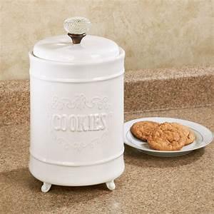 Circa, White, Ceramic, Cookie, Jar