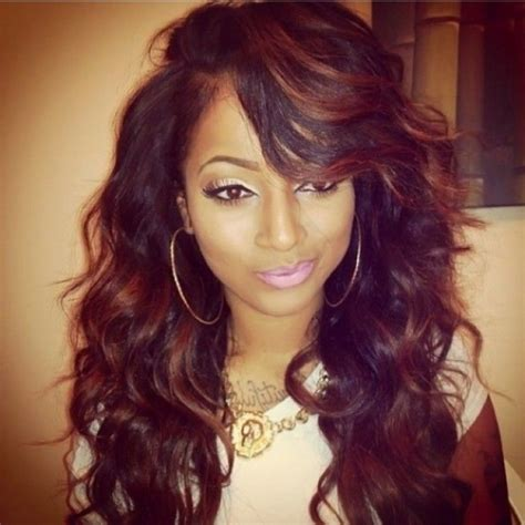 sew ins hair styles with bangs 50 sew in hairstyles for black herinterest 3703
