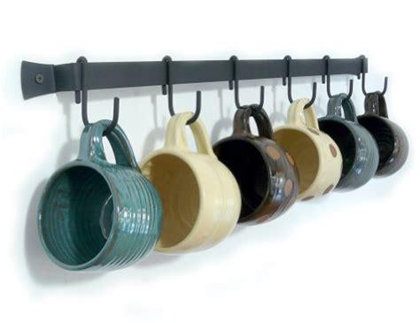 wall cup rack wrought iron mug holder