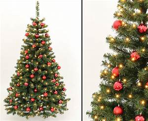 Geschmückte Weihnachtsbäume Christbaum Dekorieren : geschm ckte weihnachtsb ume 210cm mit rot farbigen kugeln online kaufen ~ Markanthonyermac.com Haus und Dekorationen