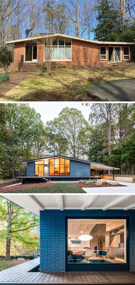 mid century modern house  north carolina received  fresh update architecture design
