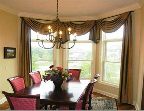 simple scarf swag bay window or bow window allows