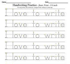 handwriting images kindergarten writing